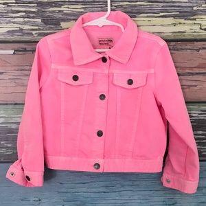 Hot pink jean jacket